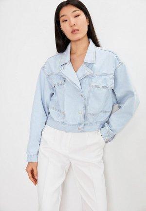 Куртка джинсовая Lime. Цвет: голубой