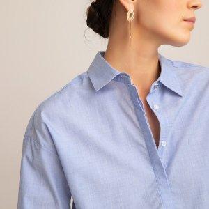 Рубашка-туника LaRedoute. Цвет: синий