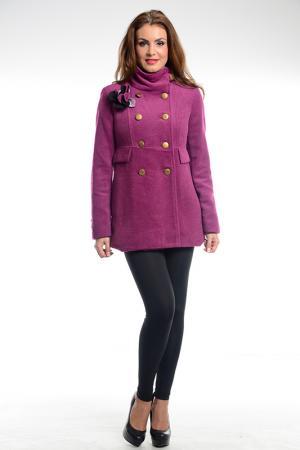 Пальто Ines Collezione. Цвет: розовый