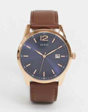 Часы с коричневым ремешком -Коричневый Guess