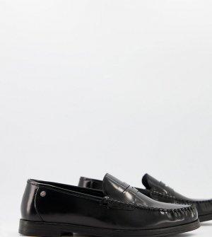 Черные строгие кожаные пенни-лоферы для широкой стопы -Черный Ben Sherman