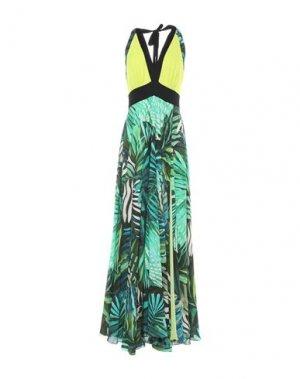Длинное платье HANITA. Цвет: кислотно-зеленый