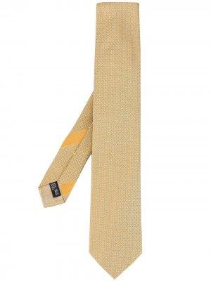 Галстук с геометричной вышивкой Salvatore Ferragamo. Цвет: нейтральные цвета