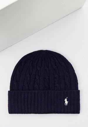 Шапка Polo Ralph Lauren. Цвет: синий