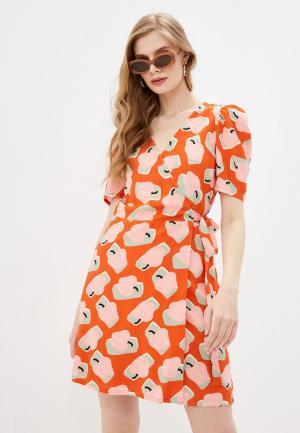Платье Compania Fantastica. Цвет: оранжевый