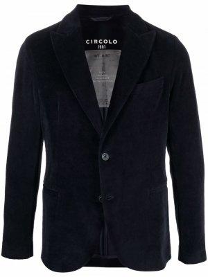 Бархатный пиджак Circolo 1901. Цвет: синий