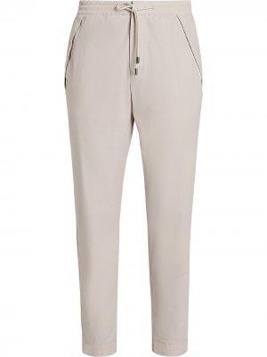 Зауженные брюки Z Zegna. Цвет: нейтральные цвета