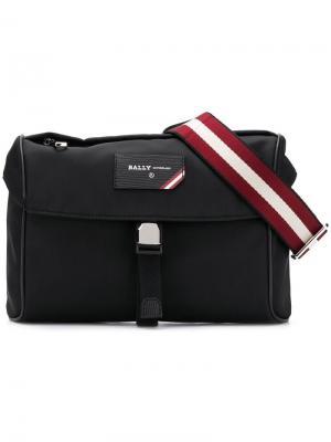 Поясная сумка в полоску Bally. Цвет: черный