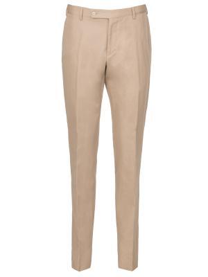 Классические брюки Larusmiani. Цвет: бежевый