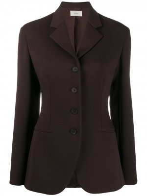 Приталенный пиджак Risa The Row. Цвет: коричневый