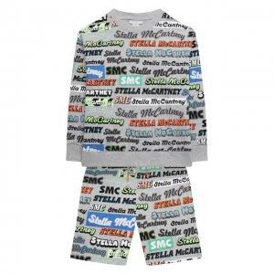 Комплект из свитшота и шорт Stella McCartney. Цвет: серый