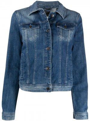 Джинсовая куртка на пуговицах Armani Exchange. Цвет: синий