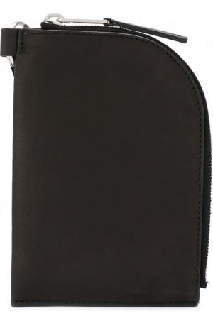 Кожаное портмоне на молнии Rick Owens. Цвет: черный
