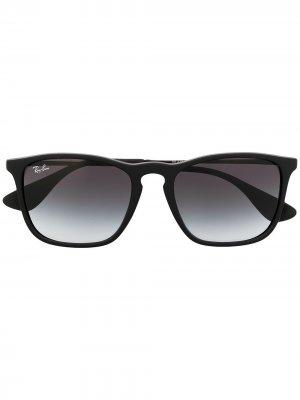 Солнцезащитные очки Chris в квадратной оправе Ray-Ban. Цвет: черный