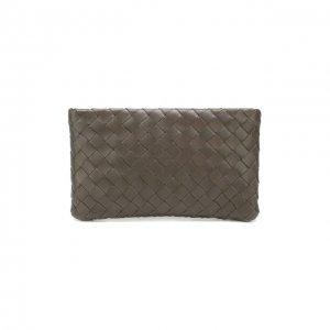 Кожаный футляр для документов Bottega Veneta. Цвет: серый