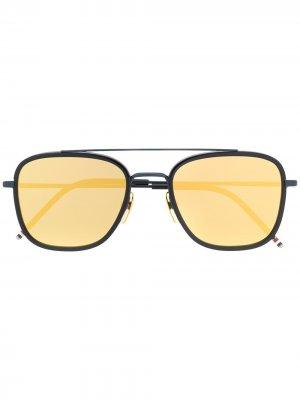 Солнцезащитные очки-авиаторы Thom Browne Eyewear. Цвет: синий