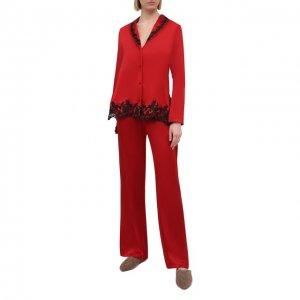 Шелковая пижама La Perla. Цвет: красный