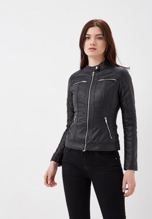 Куртка кожаная Z-Design ZD002EWATPW5. Цвет: черный