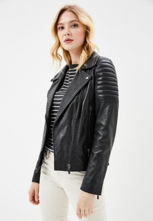 Куртка кожаная Arma AR020EWZSI41. Цвет: черный