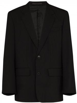 Однобортный пиджак Valentino. Цвет: черный