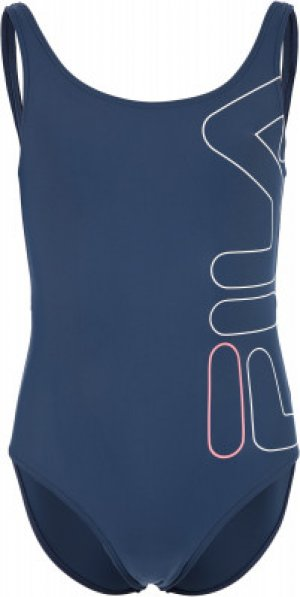 Купальник для девочек , размер 140 FILA. Цвет: синий