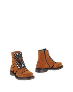 Полусапоги и высокие ботинки LE DANGEROUGE. Цвет: желто-коричневый