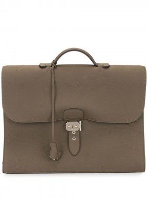 Портфель Sac a Depeche 38 pre-owned Hermès. Цвет: коричневый