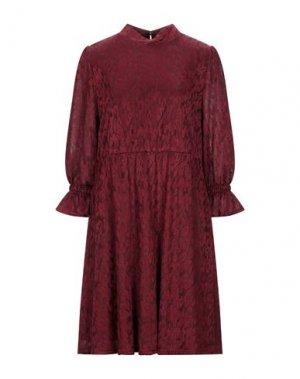 Короткое платье DRY LAKE.. Цвет: красно-коричневый