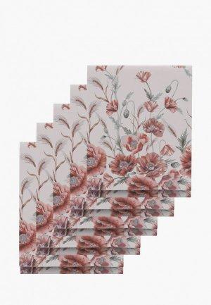 Набор полотенец кухонных Mia Cara 50х70 (5 шт.) Иллюзия. Цвет: бежевый