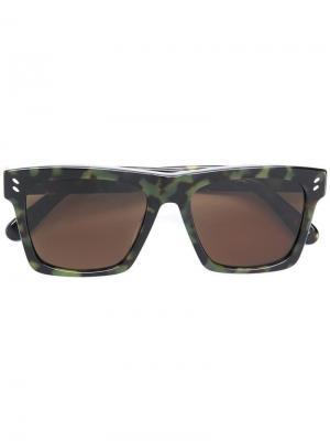 Солнцезащитные очки в квадратной оправе Stella McCartney Eyewear. Цвет: зеленый