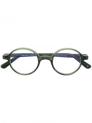 Классические очки в круглой оправе L.G.R. Цвет: зеленый