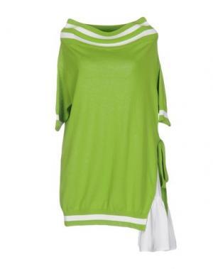 Короткое платье I'M ISOLA MARRAS. Цвет: светло-зеленый