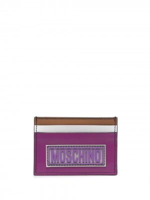 Картхолдер в стиле колор-блок Moschino. Цвет: фиолетовый