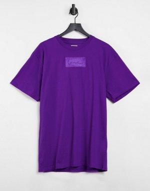 Фиолетовая футболка с логотипом -Фиолетовый цвет Karl Kani
