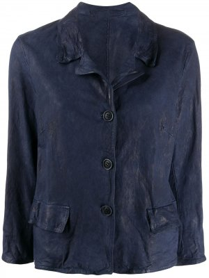 Куртка с жатым эффектом Salvatore Santoro. Цвет: синий