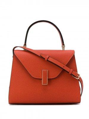 Мини-сумка-тоут Iside Valextra. Цвет: оранжевый
