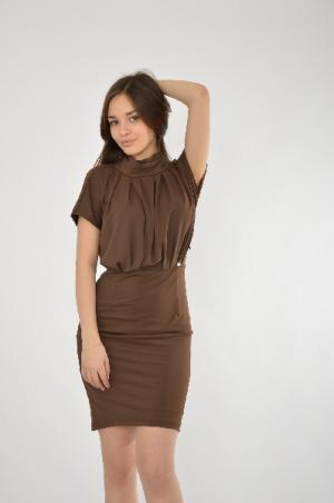 Платье ELIZABETTA FRANCHI. Цвет: коричневый