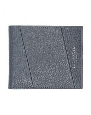 Бумажник TED BAKER. Цвет: серый
