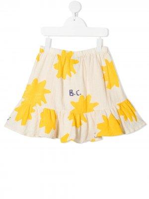 Расклешенная юбка с принтом Bobo Choses. Цвет: нейтральные цвета