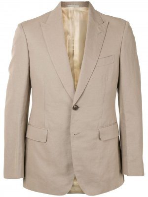 Однобортный пиджак Gieves & Hawkes. Цвет: нейтральные цвета