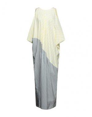 Длинное платье I'M ISOLA MARRAS. Цвет: светло-желтый
