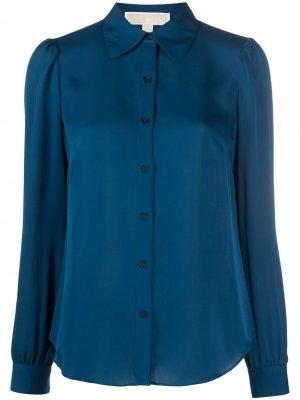 Рубашка с длинными рукавами Michael Kors. Цвет: синий