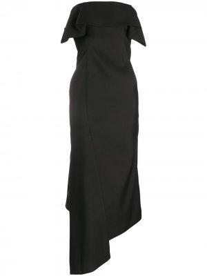 Asymmetrical bustier dress LANVIN. Цвет: черный