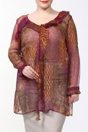 Блуза Alain Weiz. Цвет: бордо, огурцы