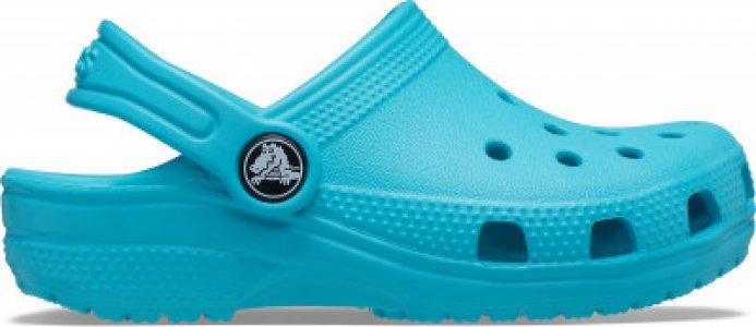 Шлепанцы детские Classic Clog K, размер 27 Crocs. Цвет: голубой
