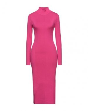 Платье длиной 3/4 PATRIZIA PEPE. Цвет: фуксия