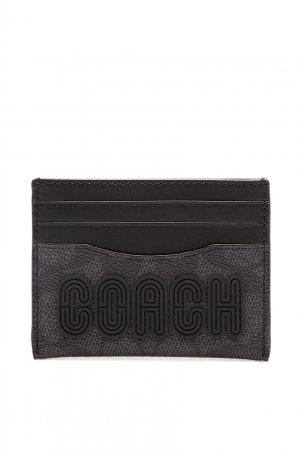 Картхолдер с логотипом Coach. Цвет: черный