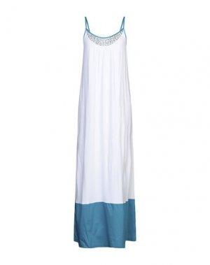 Длинное платье TWINSET. Цвет: белый