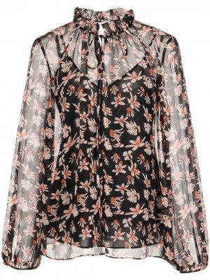 Блузка с цветочным принтом Jason Wu. Цвет: синий
