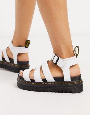Белые сандалии -Белый Dr Martens